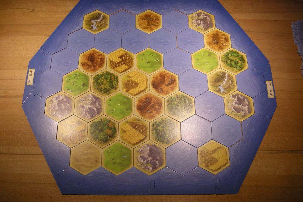 Catan - Aufbau der kleinen Inseln