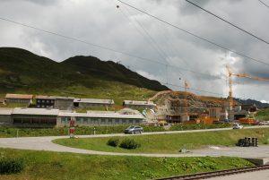 Bauarbeiten auf dem Oberalppass
