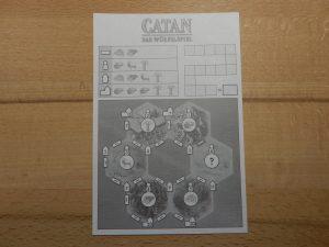 Catan - Das Würfelspiel: Das Spielblatt