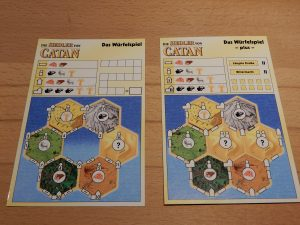 Catan - Das Würfelspiel XXL: Das Spielblatt