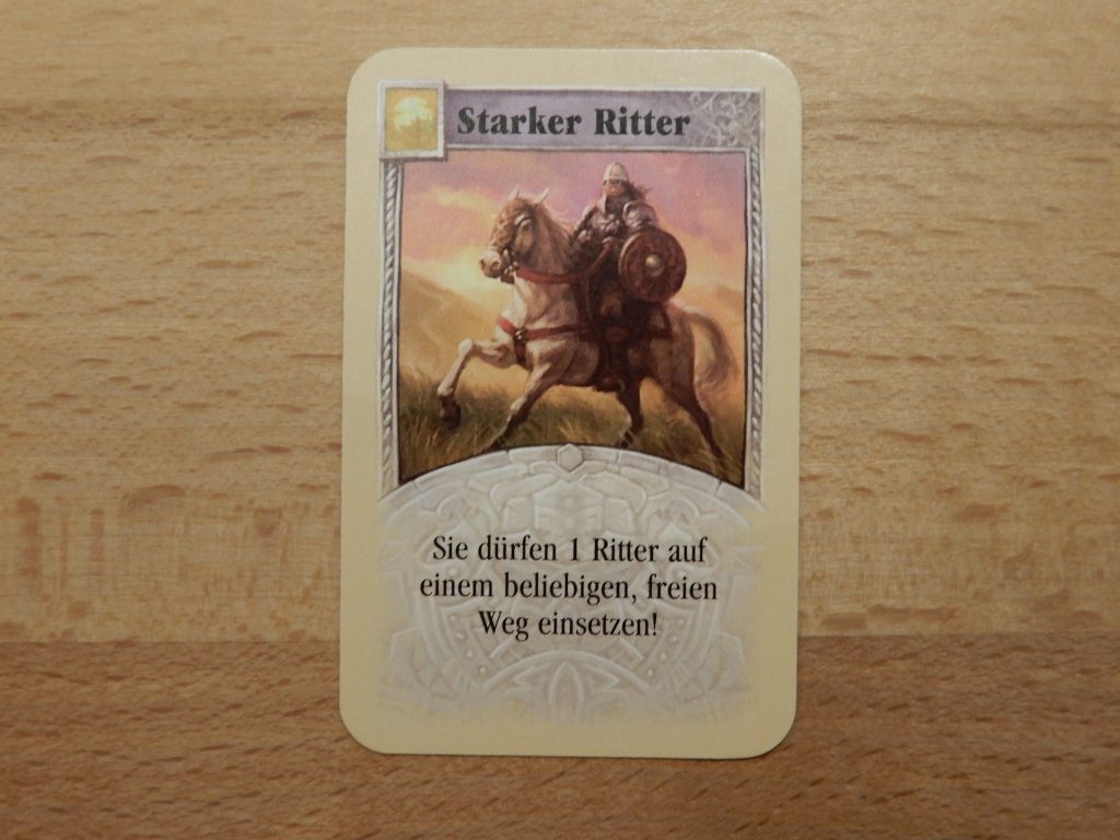 """Catan - Entwicklungskarte """"Starker Ritter"""""""