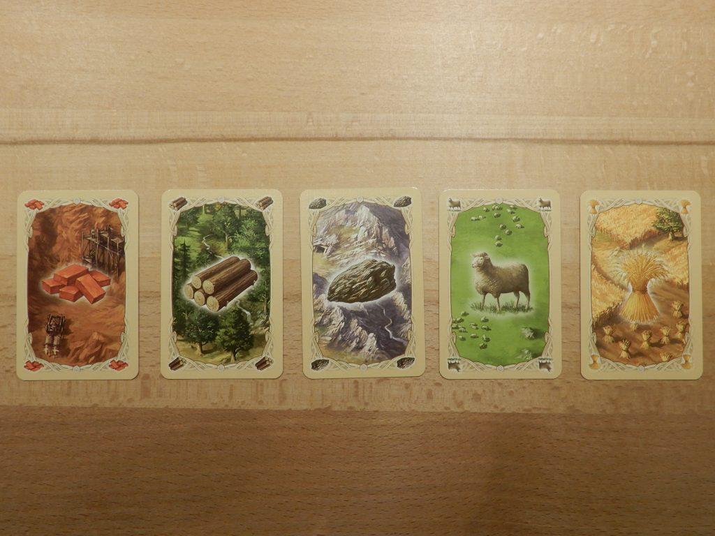 Catan - Das schnelle Spiel: Rohstoffkarten