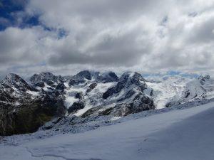 Blick auf die Berninagruppe