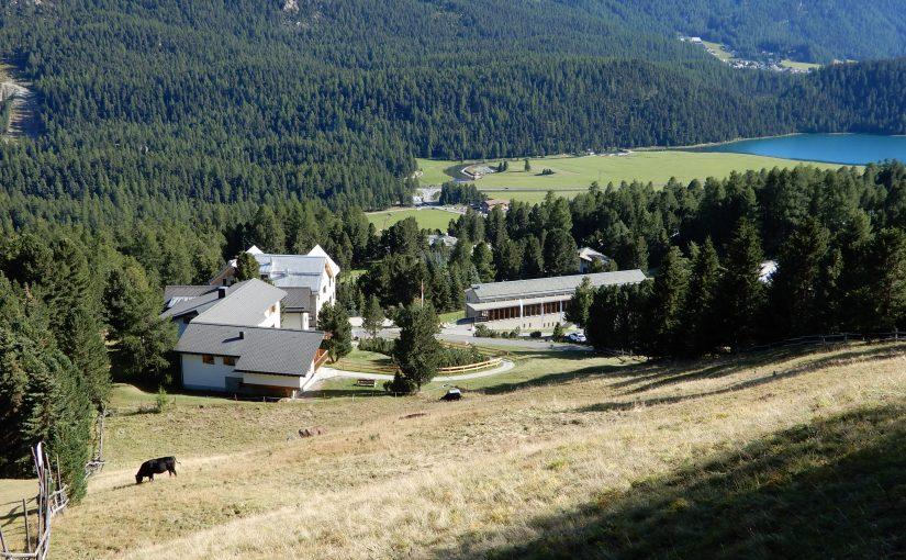 Überblick über die Anlage des Berghotels Randolins