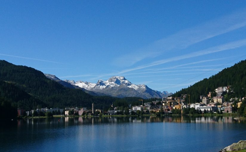 Blick über den St. Moritzersee