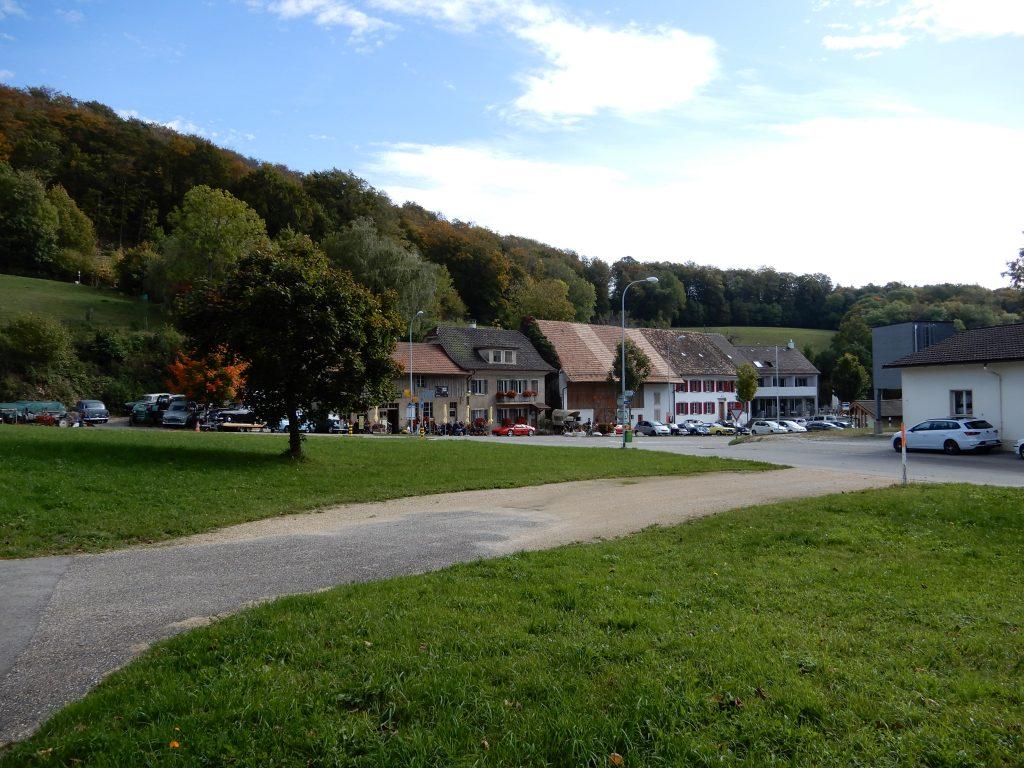 Der Dorfplatz in Hauenstein