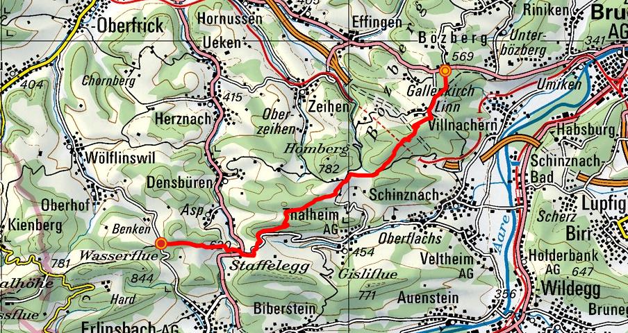 Bözberg - Linnerberg - Staffelegg - Benkerjoch