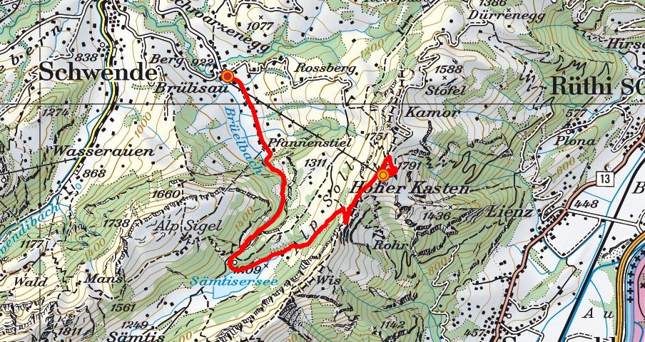 Hoher Kasten - Plattenbödeli - Brülisau