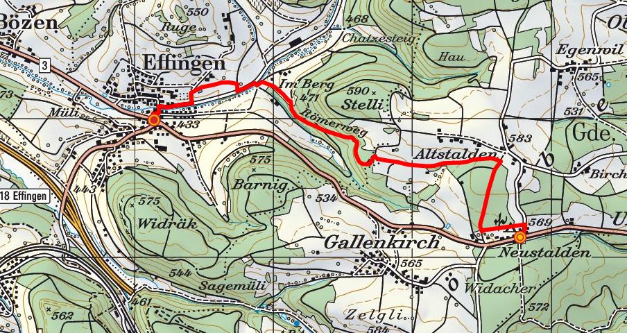 Bözberg - Römerweg - Effingen