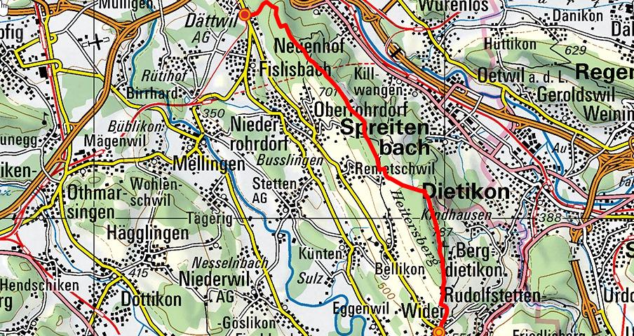 Widen - Heitersberg - Dättwil