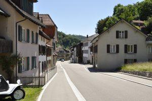 Ortsdurchfahrt in Langenbruck
