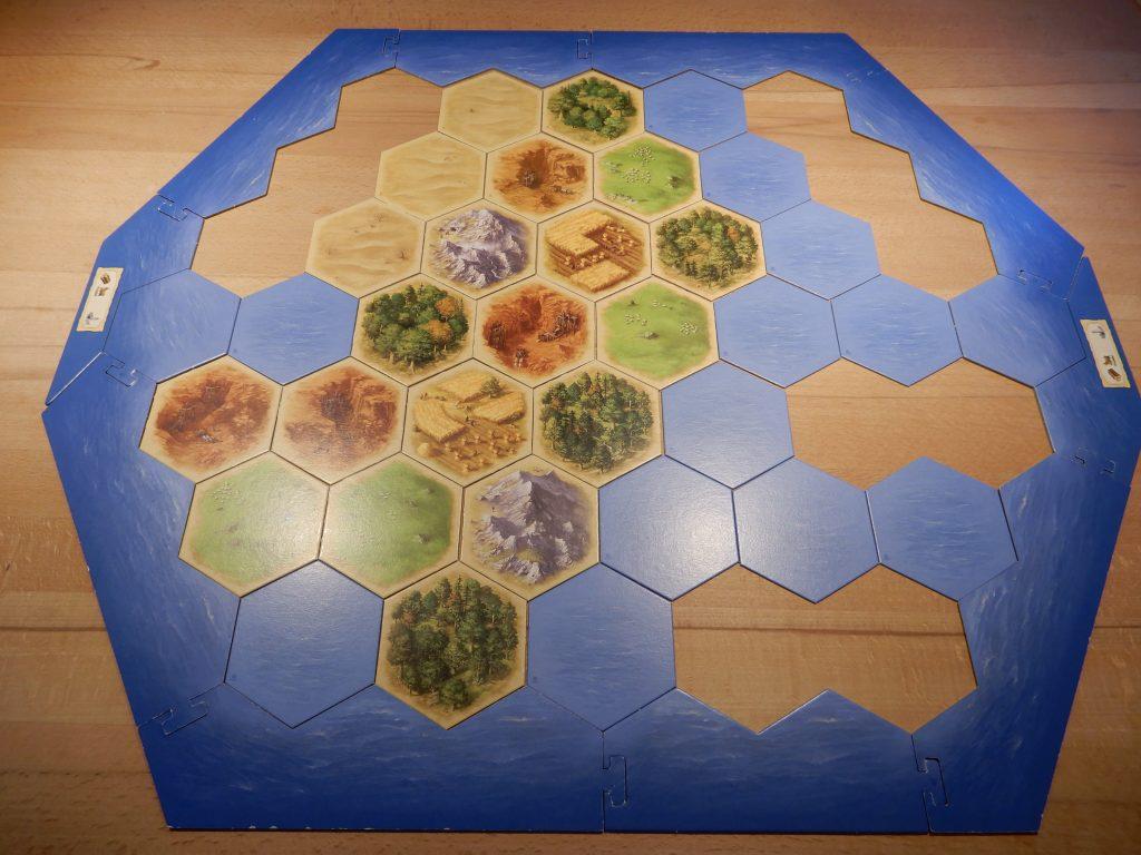 Catan - Aufbau der Hauptinsel