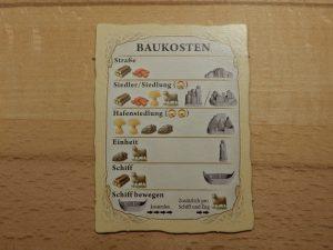 Catan Entdecker & Piraten - Baukosten