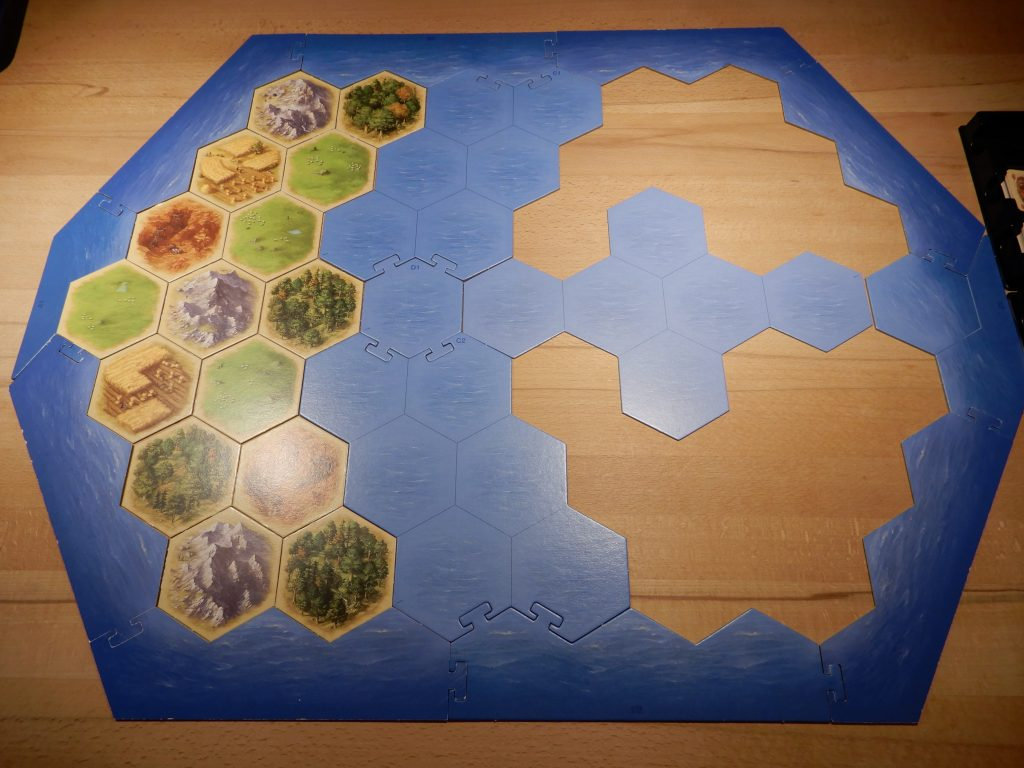 Catan - Aufbau der Startinsel