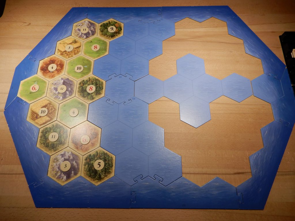 Catan - Die Startinsel mit Zahlenchips
