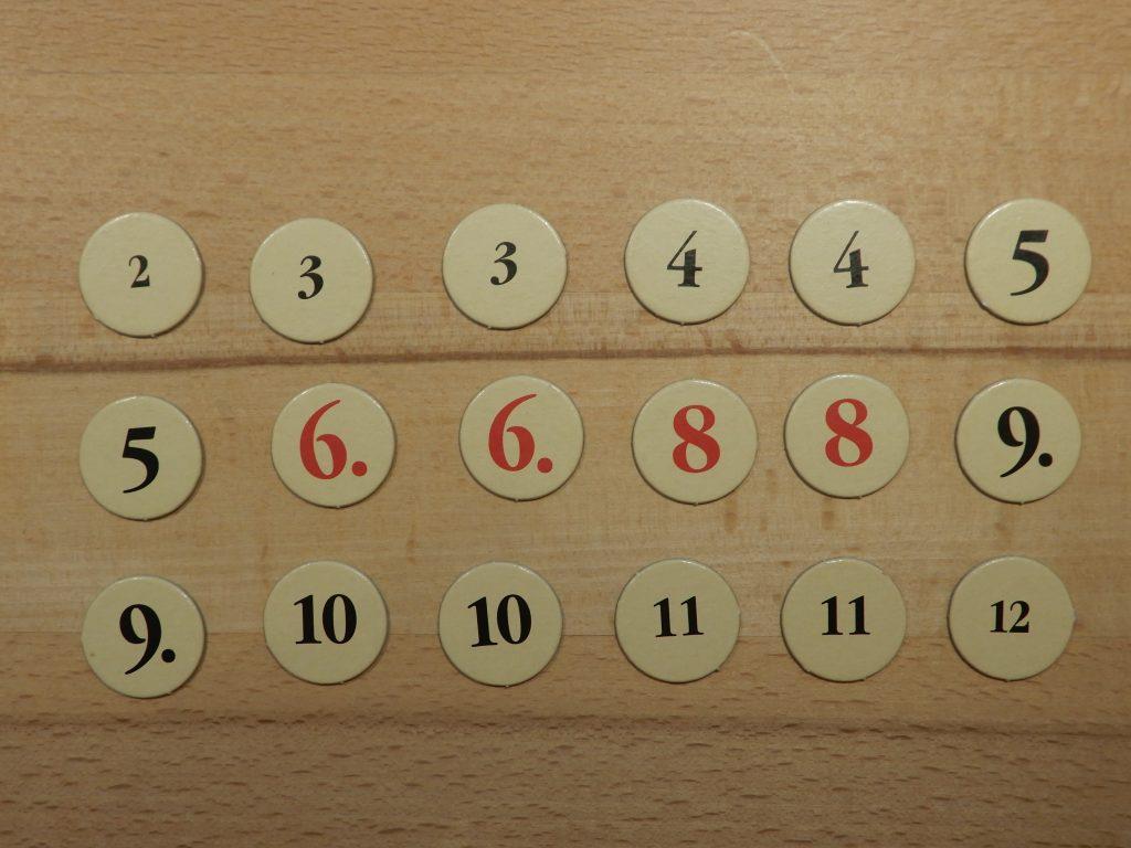 Catan - Zahlenchips