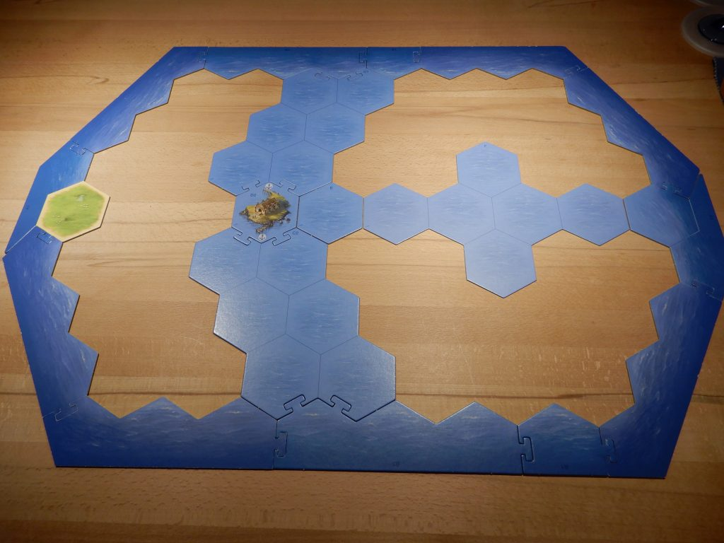 Catan - Aufbau des Spielfeldgerüsts