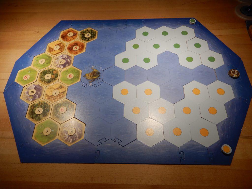 Catan - Aufbau der unentdeckten Inseln