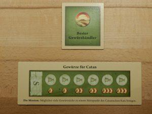 Catan - Siegpunktkarte und Missionskarte