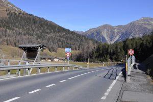 Strasse Richtung Klosters