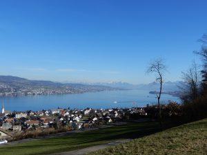 Erster Blick auf den Zürichsee