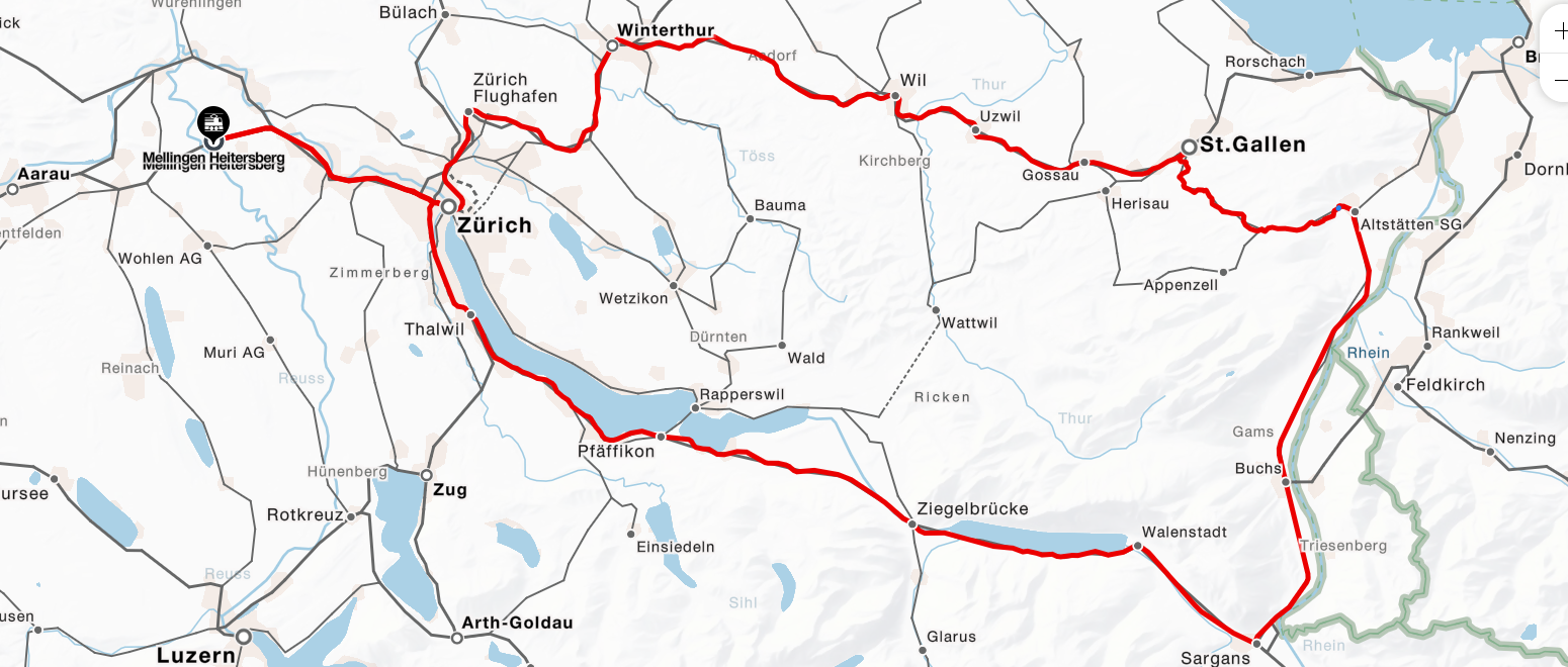 Strecke vom 2. September 2021