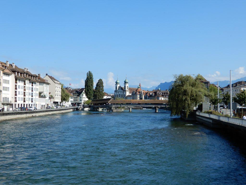 Spreuerbrücke und Jesuitenkirche