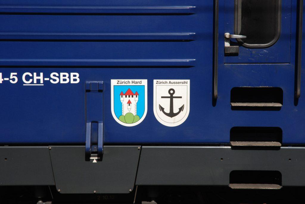 Wappen Zürich Hard und Zürich Aussersihl