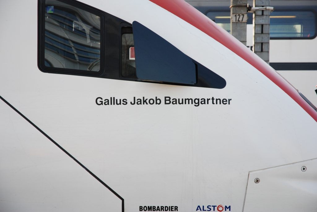 Namen Gallus Jakob Baumgartner