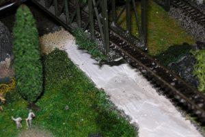 Auch das Brückenfundament muss angepasst werden