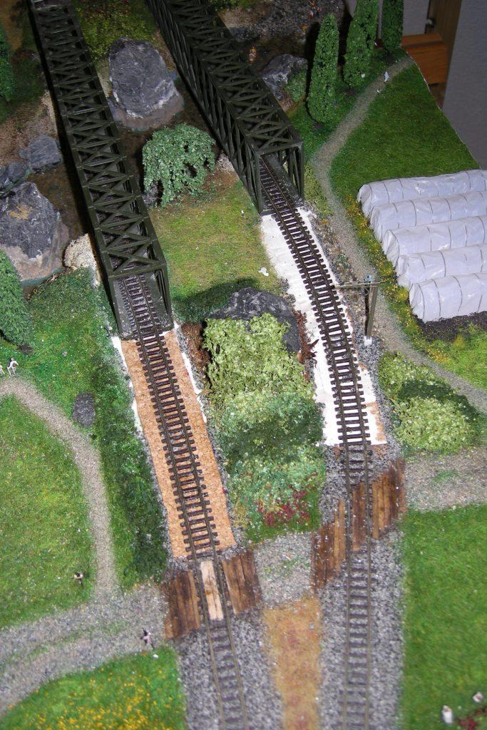 Auch das andere Gleis wurde angepasst