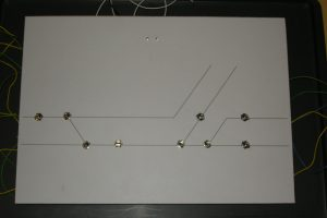 Erstes Stellpult für Modul 01 + 08, in der Zwischenzeit abgebrochen