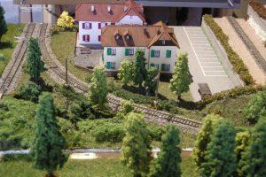 Landschaftsausbau mit den Wohnhäusern