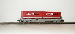 """Roco 25651 - SBB Sdkmms mit 2 Wechselpritschen """"Crossrail"""""""